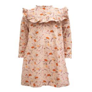 Fall forrest printet Evy kjole med flæser