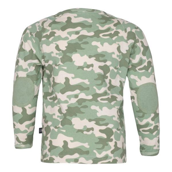 0105 Noah Camou 2   Noah bluse med albue lapper i green camou print
