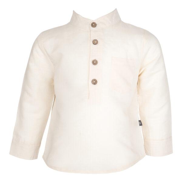 0105 Thor Shirt Antique White | Thor langærmet skjorte i antique white