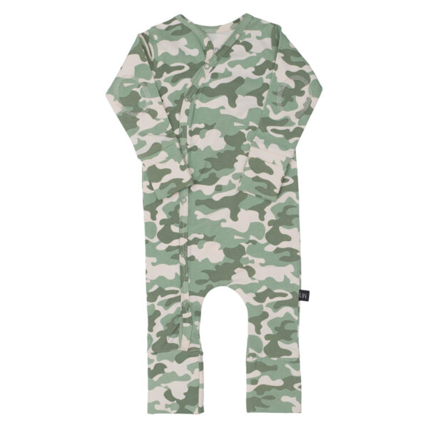 Camou NB Bodysuit 2 | Alf Newborn Cross Heldragt i green camou print