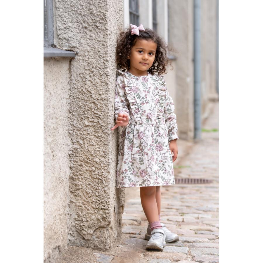 Marlow Dress 3 1 scaled | Marlov kjole med flæser i romantic flower print