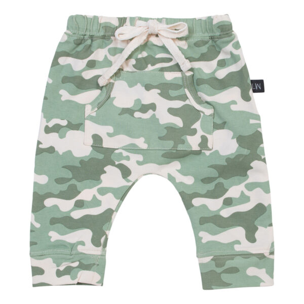 Adam20NB20Baggy20Pants Green20Camou   Adam Newborn Baggy Pants i green camou print