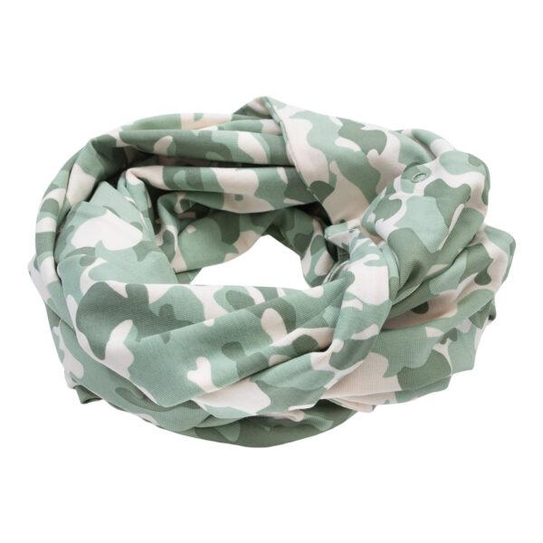 Andy20Green20Camou20Tube20Scarf | Andy Tubetørklæde med tryk knapper i green camou print