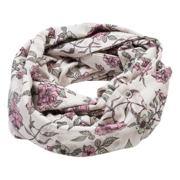 Anna20Romantic20Flower20Tube20Scarf | Anna Tube tærklæde med tryk knapper i romantic flower print