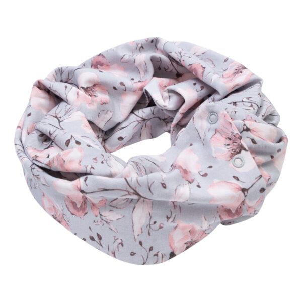 Anna20Spring20Flaewer20Tube20Scarf | Anna Tube tærklæde med tryk knapper i spring flower print