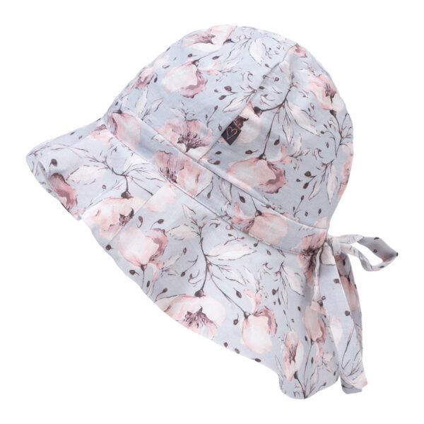 Bibi20Spring20Flower   Bibi sommerhat med sløjfe i spring flower print