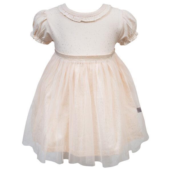 Grace20Antique20White | Grace bodykjole med tyl i antique white glitter print