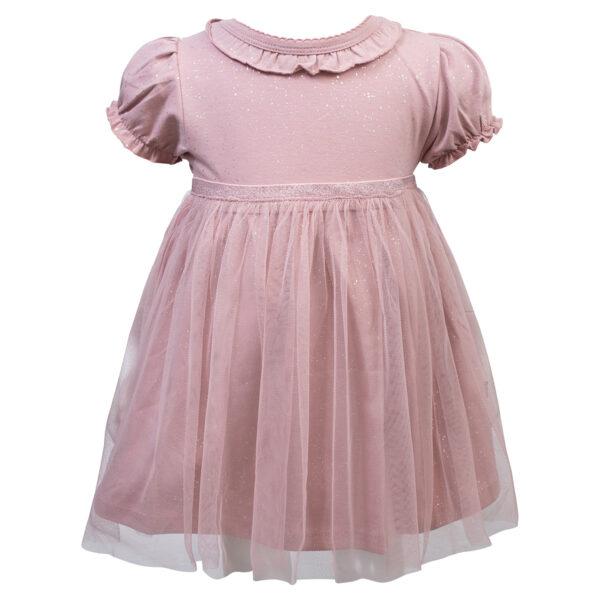 Grace20Dusty20Rose   Grace bodykjole med tyl i støvet rosa glitter print