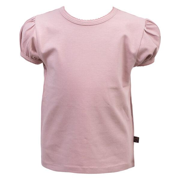 Harper20Tee Dusty20Rose   Harper T-shirt med puff ærmer i støvet rosa
