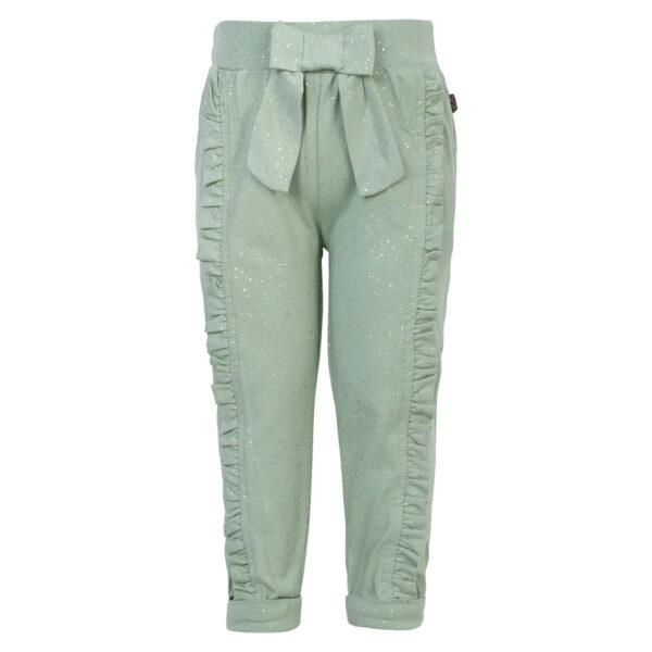Mille Deert20Sage20Glitter | Mille bukser med sløjfe og flæser i desert sage glitter