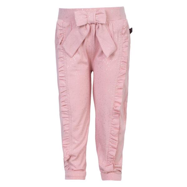 Mille Tea20Rose20Glitter | Mille bukser med sløjfe og flæser i tea rose glitter