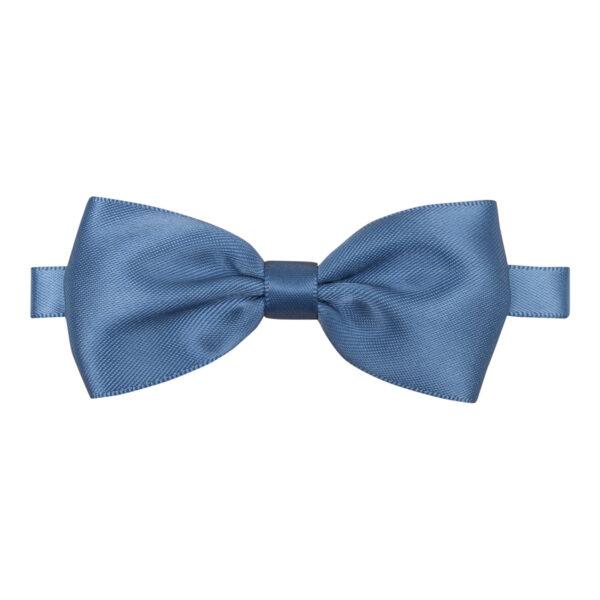 Villads - støvet blå butterfly til større børn i silke satin