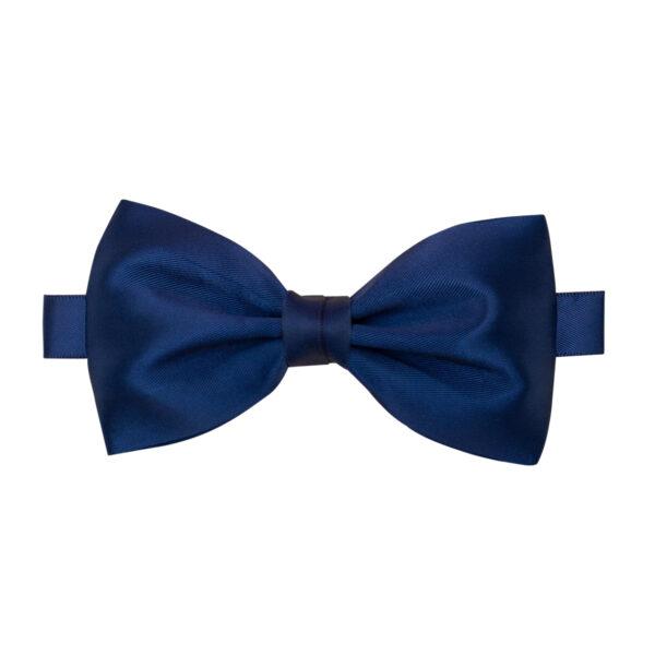 William - navy blå butterfly til far i silke satin