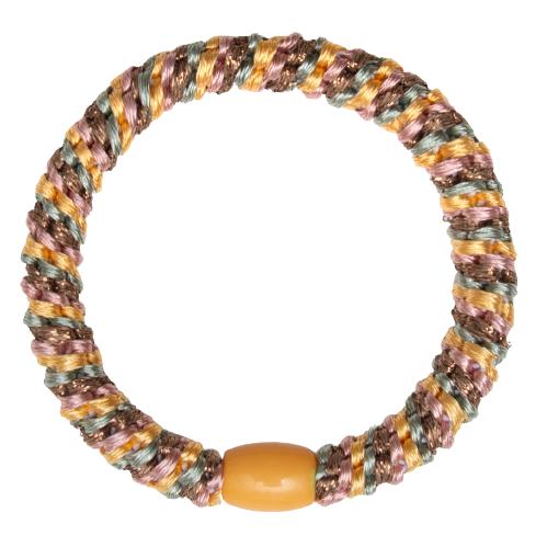 406 Kelly orange gron rosa glitter   Kelly Orange/grøn/rosa glitter kraftig hår elastik #406