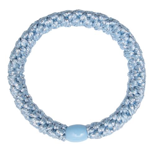 416 Kelly Kold lyseblaa gitter   Kelly Skyblå/Glitter kraftig hår elastik #416
