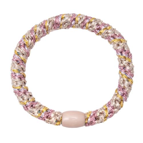 419 Kelly guld solv pink glitter   KellyRosa/Guld/Sølv/Glitter kraftig hår elastik #419