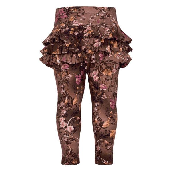 Athena20Brown20Romance | Brown romance Athena leggings med flæser