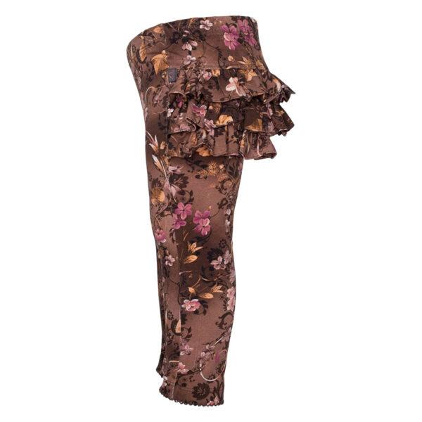Athena20Brown20Romance side | Brown romance Athena leggings med flæser