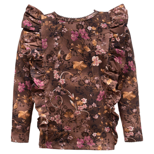 Esmarelda20Brown20Romance | Brown romance Esmaralda bluse med flæser