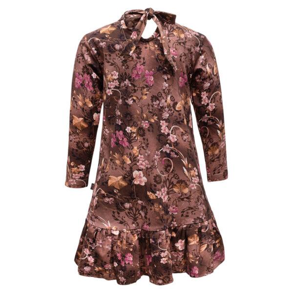 Lola20Brown20Romance Back | Brown romance Lola kjole med sløjfe