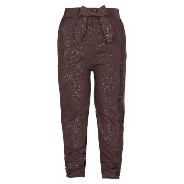 Mille20Truffle   Truffle / glitter Mille bukser med sløjfe og flæser