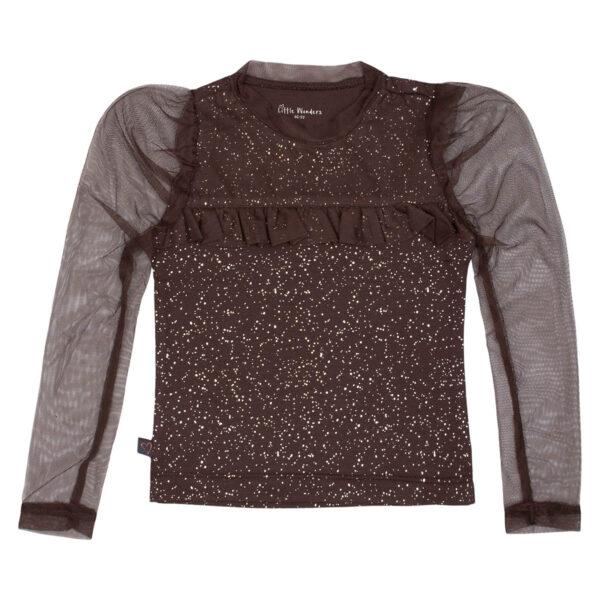 Zoe20Truffle | Truffle / glitter Zoe bluse med tutu flæse