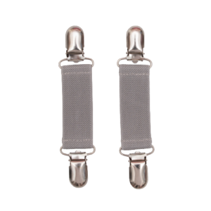 Charlie Vante clips - grå med sølv spænder