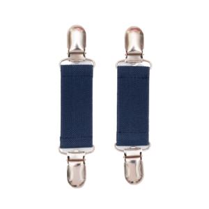 Charlie Vante clips - navy med sølv spænder